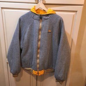Vintage 90s adidas reversible puffer jacket